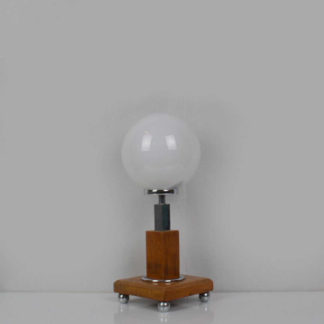 Image of: Mid Century Small Wooden Table Lamp Retrosexual Vintage Shop