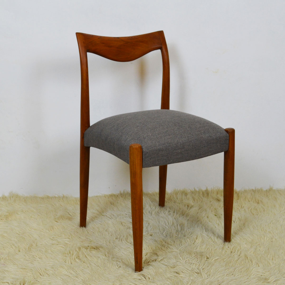 Mid Century Danish Style Of Gustav Bahus Bambi Solid Teak Dining Chairs Retrosexual Vintage Shop