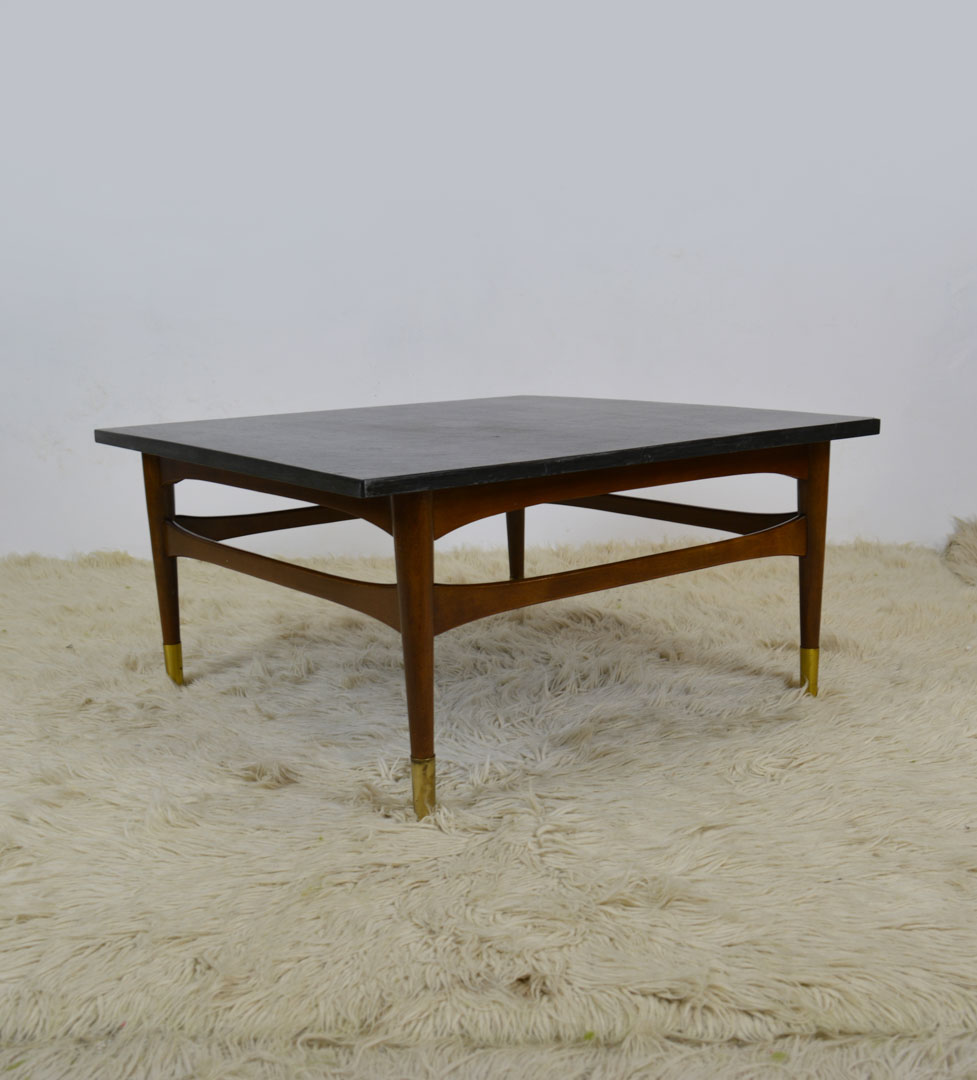 Picture of: Mid Century Square Slated Coffee Table By Tell City Chairs Company Retrosexual Vintage Shop